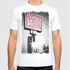 Elmo's Video Mens Fitted Tee White MEDIUM
