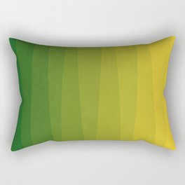 Shades of Grass - Line Gradient Pattern between Lime Green and Bright Yellow Rectangular Pillow