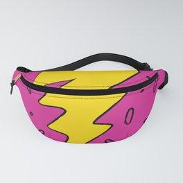 90's Retro Lightning Bolt in Hot Pink Fanny Pack