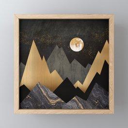 Metallic Night Framed Mini Art Print