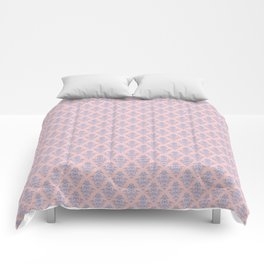 Damask Pattern | Rose Quartz and Serenity | Pantone Colors of the Year 2016 Comforters