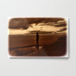Another Place on Crosby Beach Metal Print