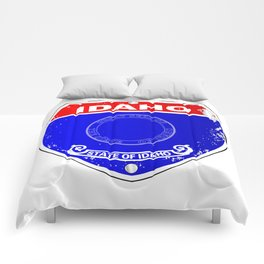 Idaho Flag Icons As A  Interstate Sign Comforters