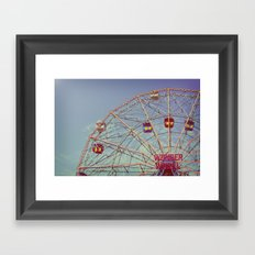 Wonder Wheel (Coney Island) Framed Art Print