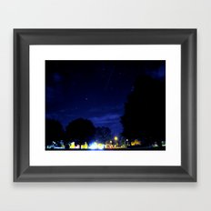 night space. Framed Art Print