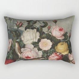 Thornton, Robert John (1768-1837) - The Temple of Flora 1807 - Roses Rectangular Pillow