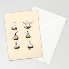 Six Geese-a-Laying Stationery Cards