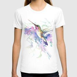 Hummingbird and Soft Purple Flowers T-shirt