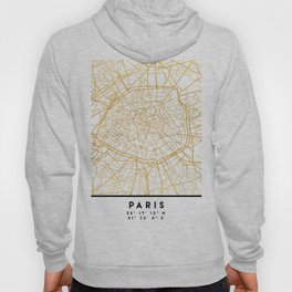PARIS FRANCE CITY STREET MAP ART Hoody