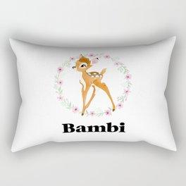 Bambi - Black Rectangular Pillow
