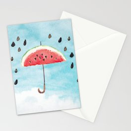 Melon - Fruity Summer Rain Stationery Cards