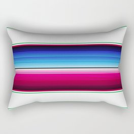 Traditional Mexican Serape in White Multi Rectangular Pillow