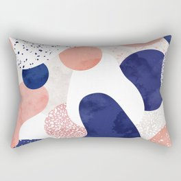 Terrazzo galaxy pink blue white Rectangular Pillow