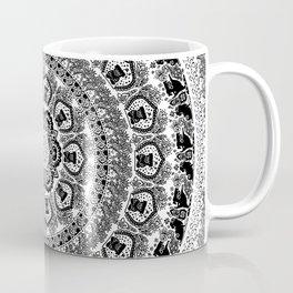 Black Pug Yoga Medallion Coffee Mug