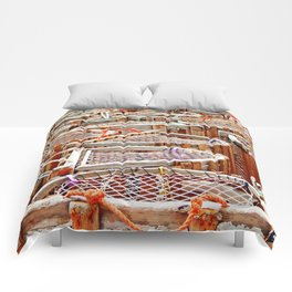 Traditional Lobster Traps Comforters