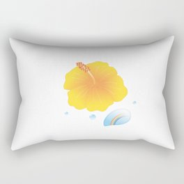 Hibiscus and Rainbow reflected in a Drop of water_Y Rectangular Pillow