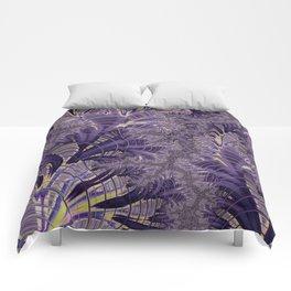 Violet Fractal Comforters