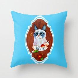 Feline Denial Throw Pillow