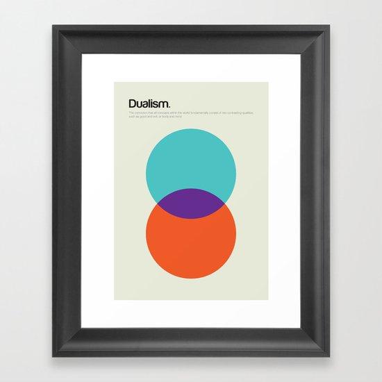 Dualism Framed Art Print