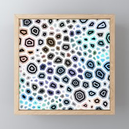 Experimental pattern 37 Framed Mini Art Print