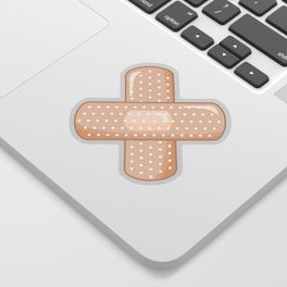 Get Well Bandaid Sticker