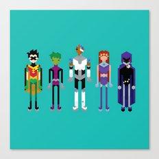 Teenage Superheroes Canvas Print