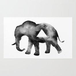 Geometric Triangle Elephant  Rug