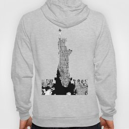 New York city map black and white Hoody