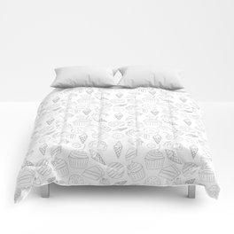 Sweets & Treats - Black & White Comforters