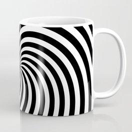 Black And White Op Art Spiral Coffee Mug
