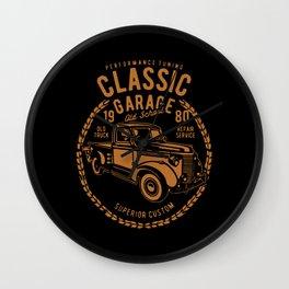classic garage Wall Clock