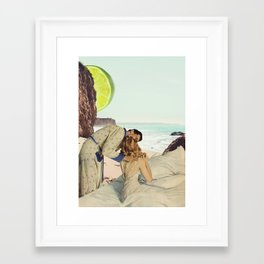 warm heart Framed Art Print