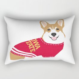 Corgi team spirit sweater collegiate fan Rectangular Pillow