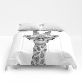 Hipster Giraffe Comforters