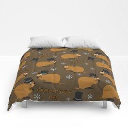 Groundhog day pattern Comforters