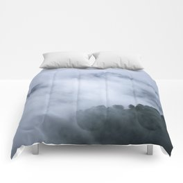 """Mistery mountains"". Retro. Foggy. Comforters"