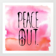 Peace Out. Art Print