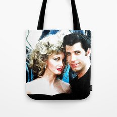 Sandy and Danny from Grease - Painting Style Tote Bag
