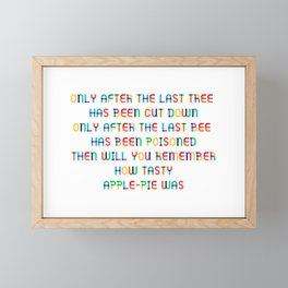 The last Tree – Apple Pie Framed Mini Art Print