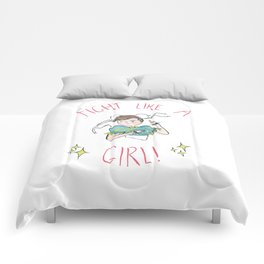 Fight Like A Girl! Comforters