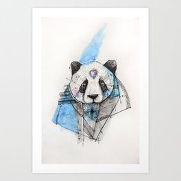 CHEWING IT OVER Art Print