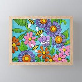 Springtime Series #4 Bee's Framed Mini Art Print