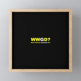 WWGD Framed Mini Art Print