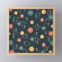 Mid Century Modern Sputnik Starburst Planets 5 Framed Mini Art Print