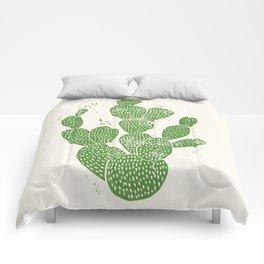 Linocut Cactus #1 Comforters