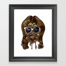 Heads of the Living Dead Zombies: Botox Backfire Framed Art Print