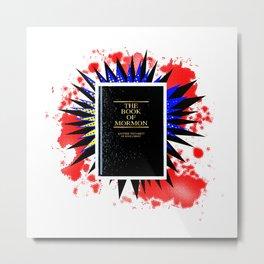 Comic Book Of Mormon Boom Metal Print