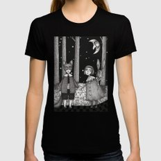 Hansel and Gretel X-LARGE Womens Fitted Tee Black