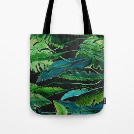 tropical nature compilation at nigth Tote Bag