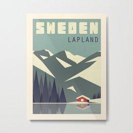 Vintage travel poster-Sweden-Lapland. Metal Print